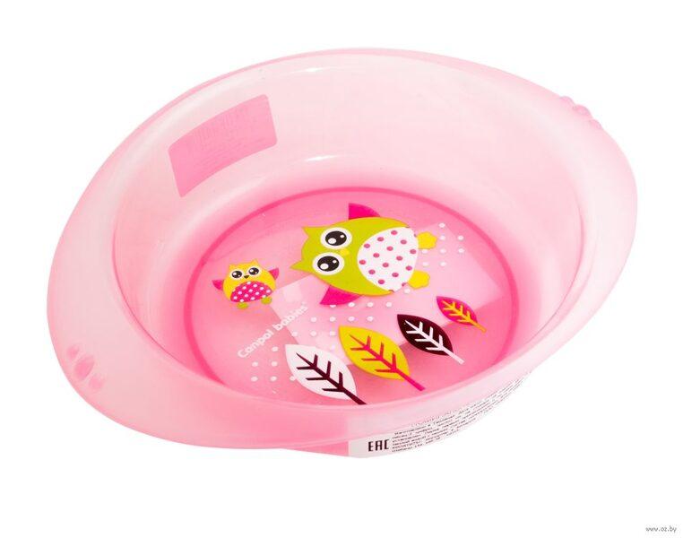 Plastmasas bļoda rozā PŪCES Canpol 4/407
