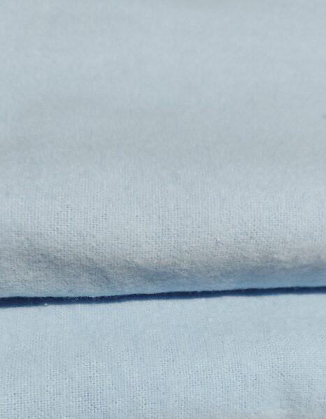 Vienkrāsains flaneļa autiņš, gaiši zilā krāsā, 70 x 80cm, Kiecz