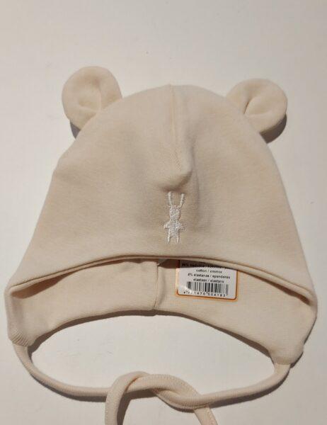 Dubultas kokvilnas cepure, 40cm, bēša, 418, Lorita