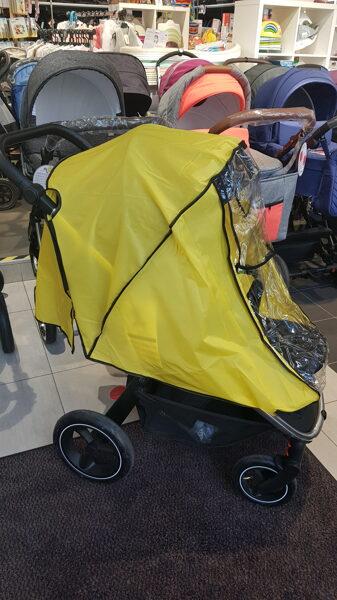 Neilona lietus pārsegs pastaigu ratiem, dzeltens 15583
