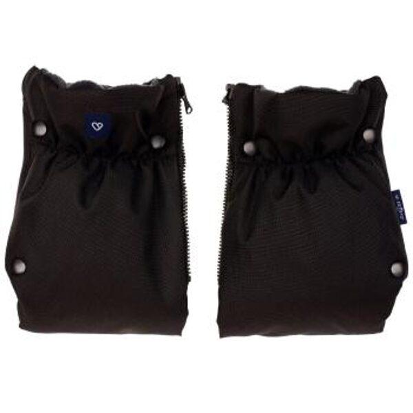 divdaļīgi ratu cimdi ar flīsa oderi, Womar, melni