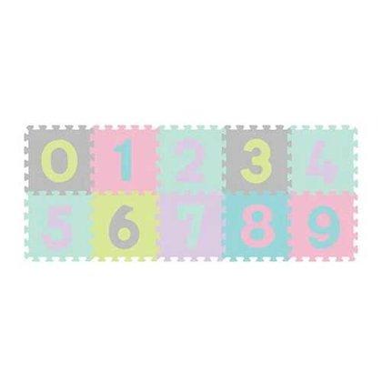 Paklājiņš-puzzle NUMBERS 10 plāksnes, 274/02, pastel, Babyono
