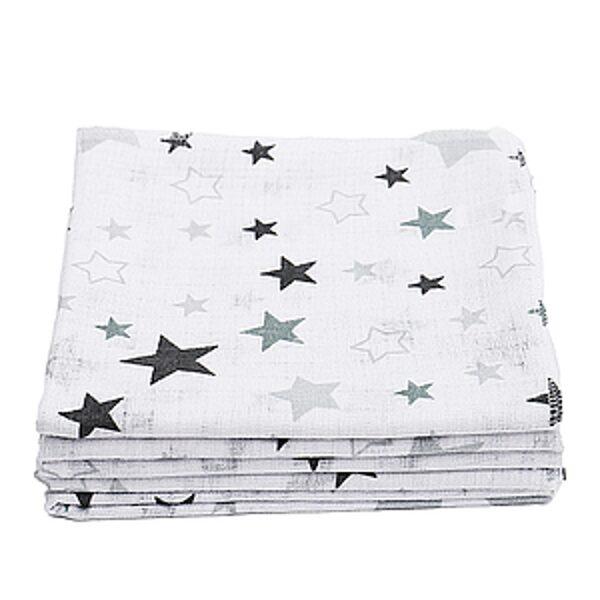 Marles autiņi, 27x27cm, pelēkas zvaigznītes, 1563, Lorita