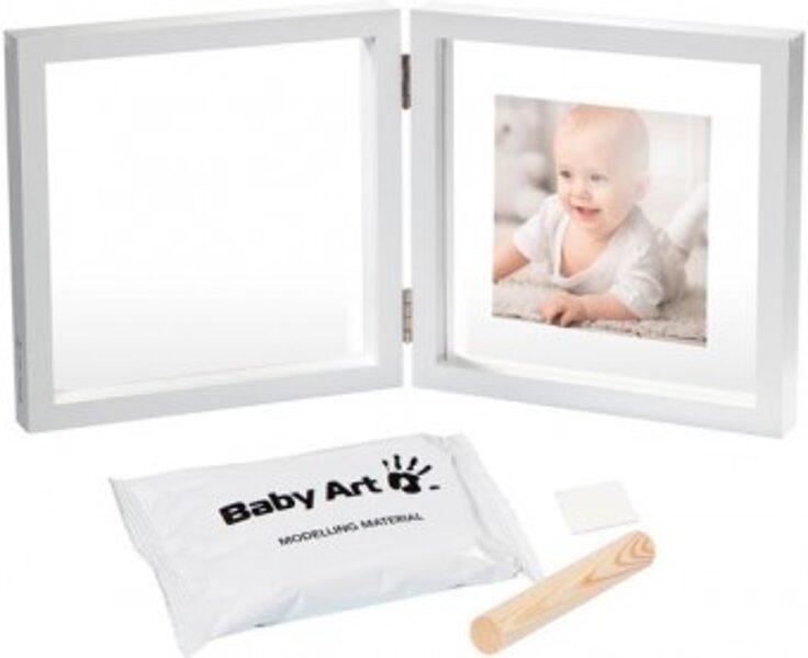BABY ART BABY STYLE DUBULTAIS KOMPLEKTS MAZUĻA PĒDIŅAS VAI ROCIŅAS NOSPIEDUMA IZVEIDOŠANAI AR KRĀSU VAI MASU, BALTS (ARTIKULS: 3601095800)