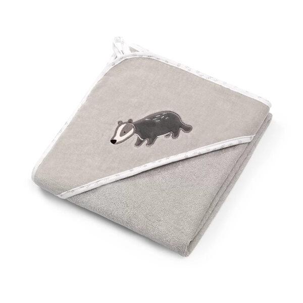 Dvielis velūra 75x75 cm ar kapuci BabyOno 538/02 grey