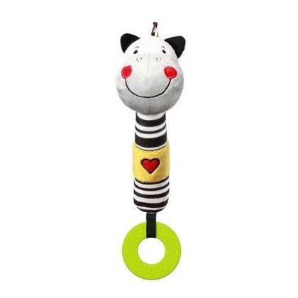 Rotaļlieta ar pīkstuli ZEBRA ZACK, 634, BabyOno