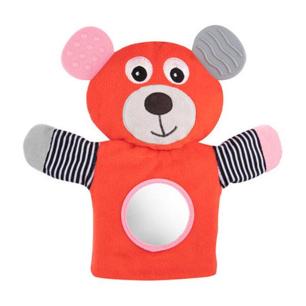 Plīša lācis-marionete BEAR Canpol 68/076coral