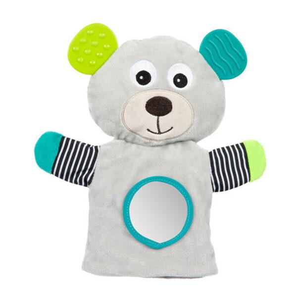 Plīša lācis-marionete BEAR Canpol 68/076 grey