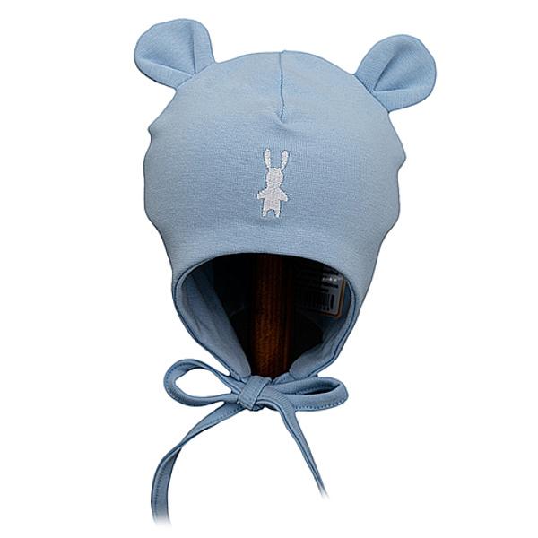 Dubultas kokvilnas cepure, dažādi izmēri, gaiši zila, 418, Lorita