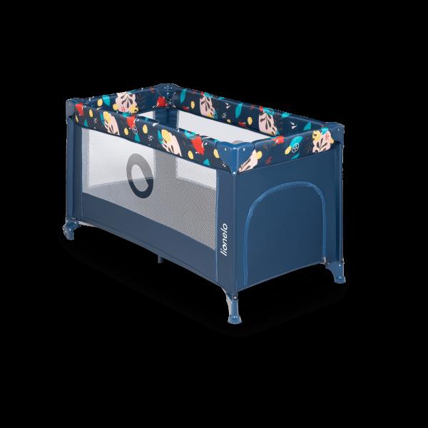 Saliekamā gulta-manēža Lionelo STEFI, Blue navy