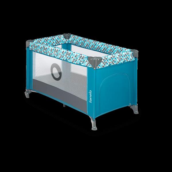 Saliekamā gulta-manēža Lionelo STEFI, Green turquoise