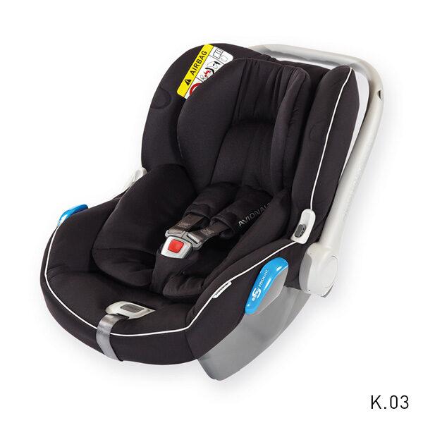 Autosēdeklis Kite plus 0-13 kg, melns/melns K03