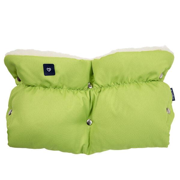 Kopīgie ratu cimdi ar vilnas oderi Womar, zaļi