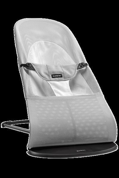 Babybjorn šūpuļkrēsliņš Balance soft, silver/white mesh 005029
