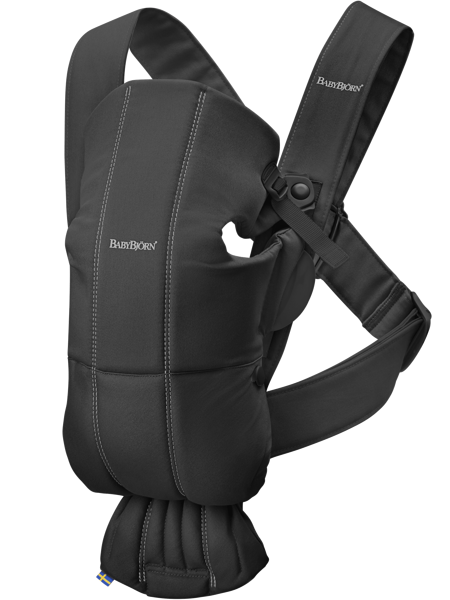 Babybjorn ķengursoma Mini, black, cotton 021056