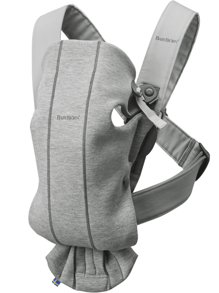 Babybjorn ķengursoma Mini, light grey , 3D jersey 021072