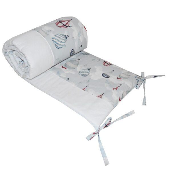 "Aizsargapmale bērnu gultiņai, OCH01, ""Baloni"", Ekokids"