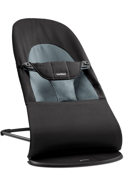 Babybjorn šūpuļkrēsliņš Balance soft , black/grey cotton 005022