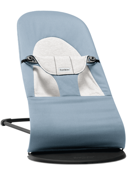 Babybjorn šūpuļkrēsliņš Balance soft, blue/grey cotton 005045