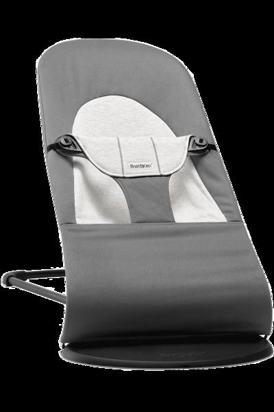 Babybjorn šūpuļkrēsliņš Balance soft, dark grey/grey cotton 005084