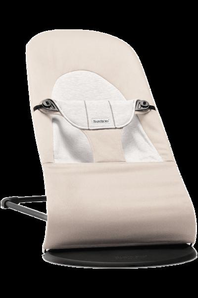 Babybjorn šūpuļkrēsliņš Balance soft, beige/grey cotton 005083