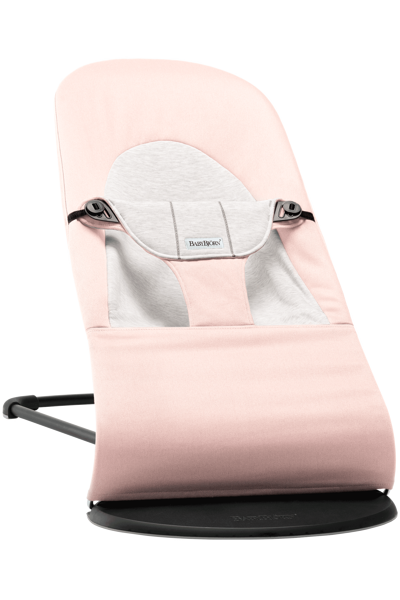 Babybjorn šūpuļkrēsliņš Balance soft, light pink/grey cotton 005089
