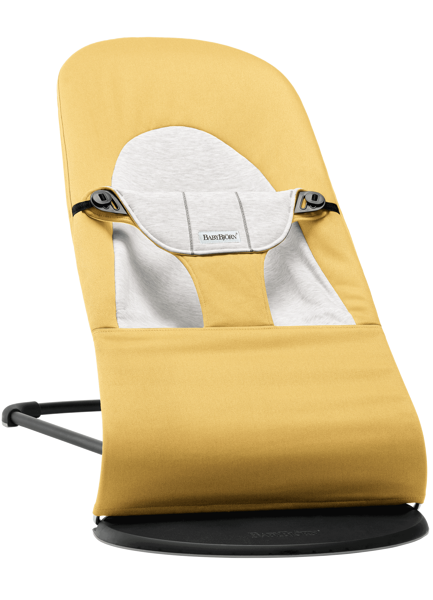 Babybjorn šūpuļkrēsliņš Balance soft, yellow/grey cotton 005061