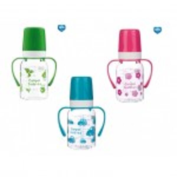 Pudele ar rokturiem 'Animals' 120 ml, dažādas krāsas, 3m+, Canpol 11/821