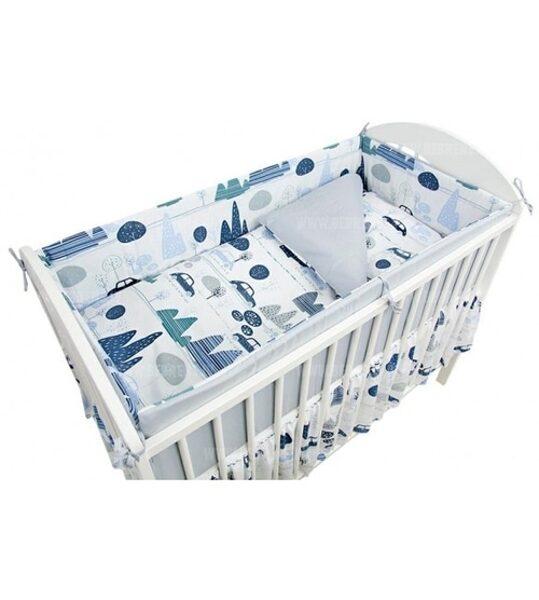 Aizsargmalas bērnu gultiņai, 360cm, Cars, Ankras