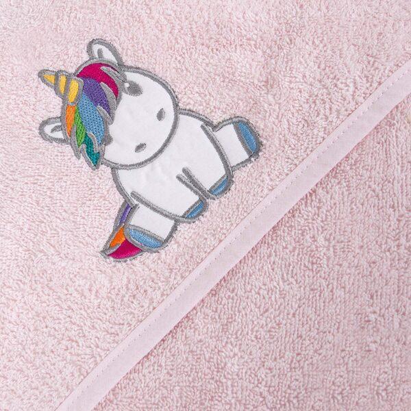 Dvielis ar kapuci, Unicorn rozā, Ceba baby