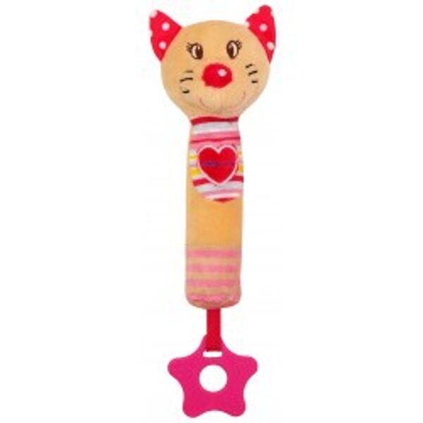 Rotaļlieta ar pīkstuli rozā kaķenīte, 17518C, BabyMix