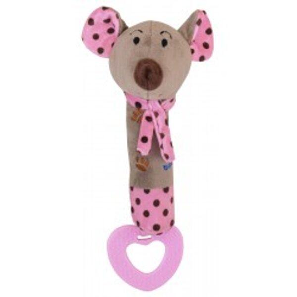 Rotaļlieta ar pīkstuli PINK MOUSE, 16058P, BabyMix