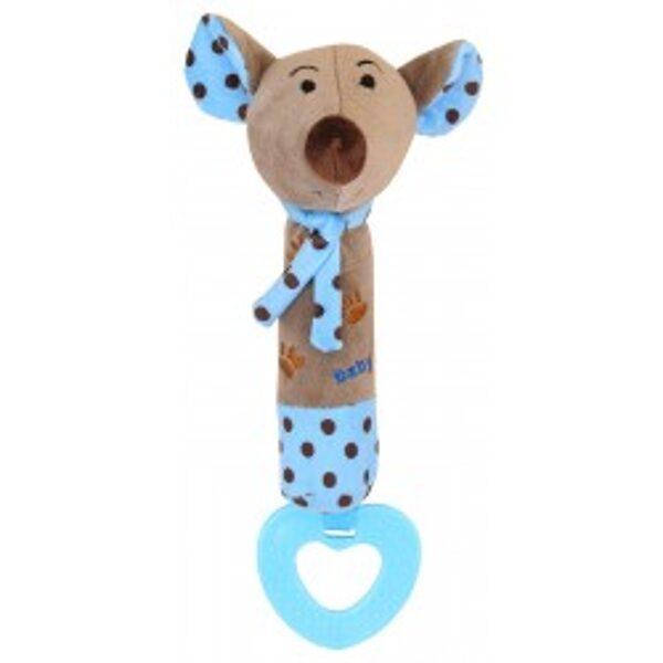Rotaļlieta ar pīkstuli BLUE MOUSE, 16058B, BabyMix