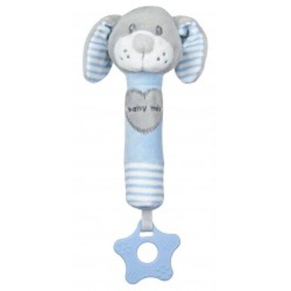 Rotaļlieta ar pīkstuli gaiši zils sunītis, 19392BD, BabyMix