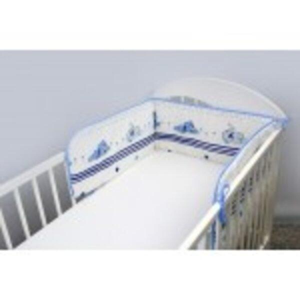 Aizsargmalas bērnu gultiņai Dreamer blue, 180cm, Ankras