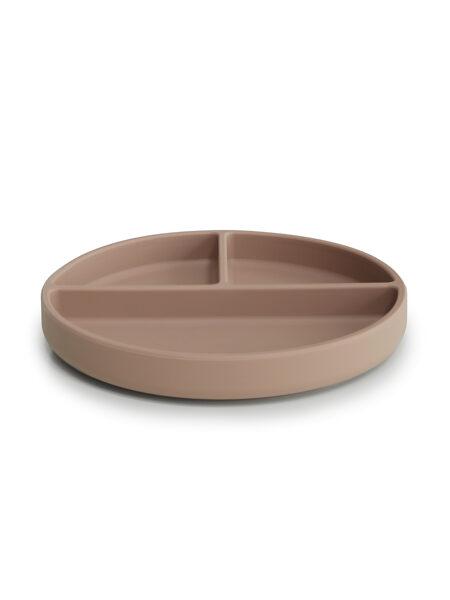 Silikona šķīvis ar piesūcekni, MPC20009 Natural, Mushie