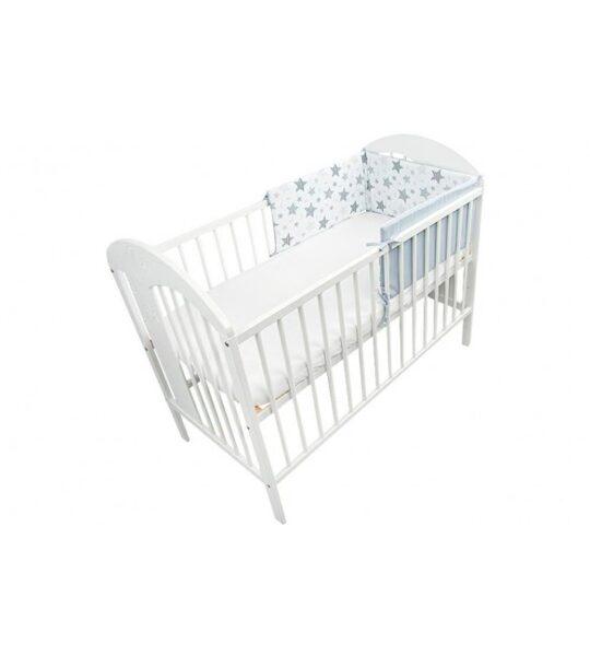 Aizsargmalas bērnu gultiņai Stars grey, 180cm, Ankras