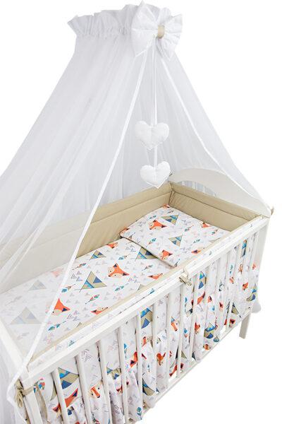 Aizsargmalas bērnu gultiņai, 360cm, Fox, Ankras