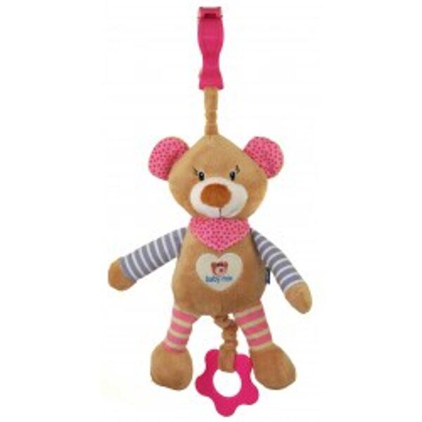 Rotaļlieta muzikālā, rozā lācēns, 16393P, BabyMix