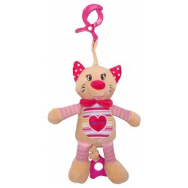 Rotaļlieta muzikālā rozā kaķenīte, 17516C, BabyMix