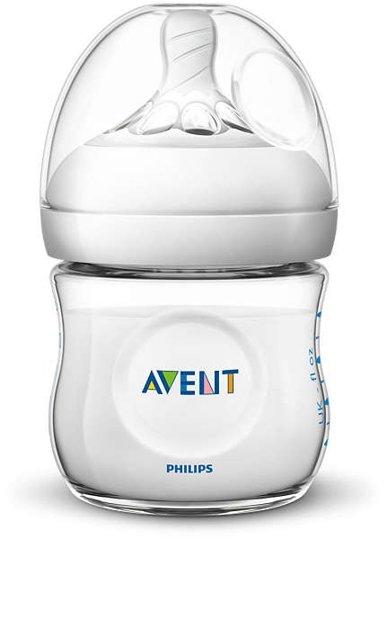 Philips Avent Natural zīdaiņu pudelīte 125 ml, jaundzimušā knupītis, 0m+ , SCF030/17