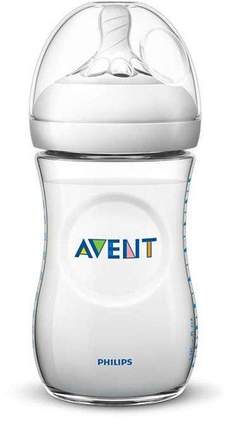 Philips Avent Natural zīdaiņu pudelīte 260 ml, lēnas plūsmas knupītis, 1m+ , SCF033/17