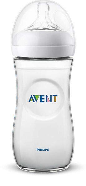Philips Avent Natural zīdaiņu pudelīte 330 ml, lēnas plūsmas knupītis, 6 m+ (Artikuls: SCF036/17)