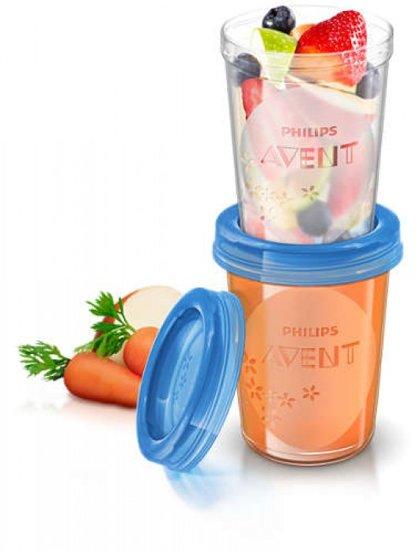 Philips Avent trauki krūts piena/ēdiena uzglabāšanai 240 ml (5gab) (Artikuls: SCF639/05)