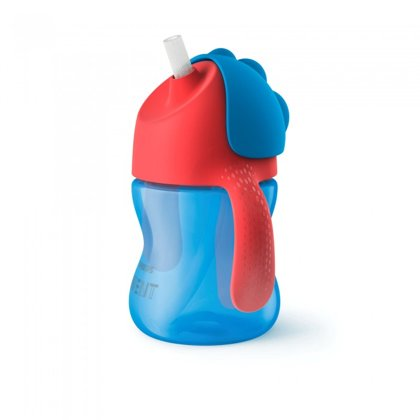 Philips Avent Krūzīte ar elastīgu salmiņu, 200 ml, 9M+, zila , SCF796/01