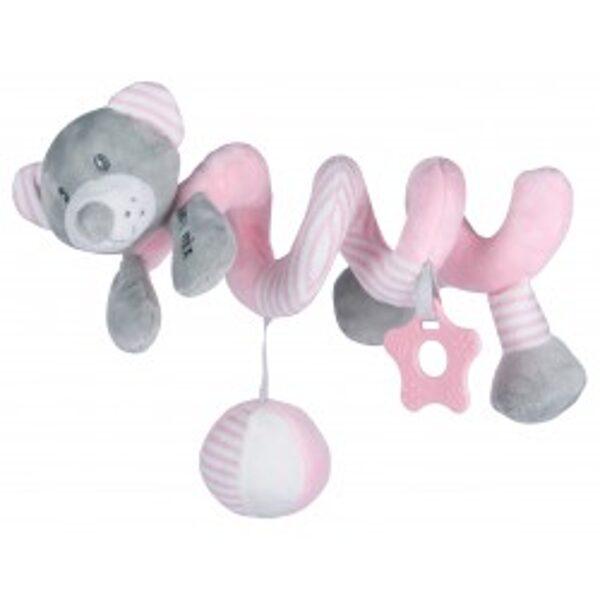 Rotaļlieta- spirāle Lācītis, rozā, 19391PB, Babymix