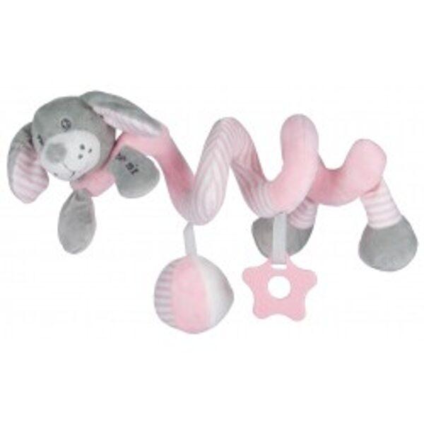 Rotaļlieta- spirāle Sunītis, rozā, 19391PR, Babymix