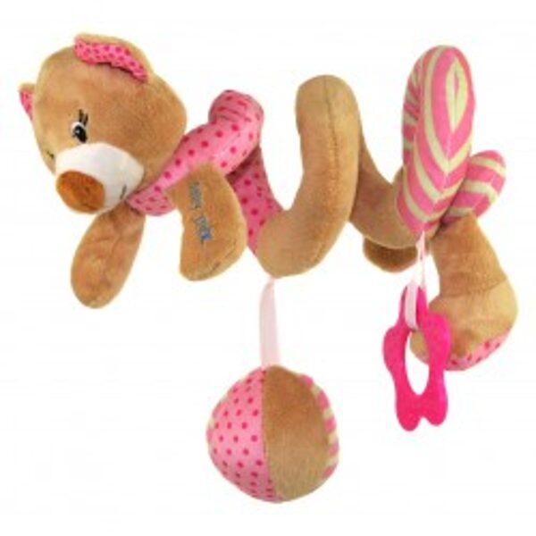 Rotaļlieta- spirāle rozā lācēns, 16432P, Babymix