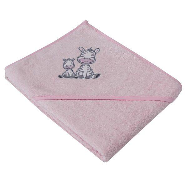 """Zīdaiņu vannošanās dvielītis """"Zebriņa"""", OK06, rozā, Ekokids"""