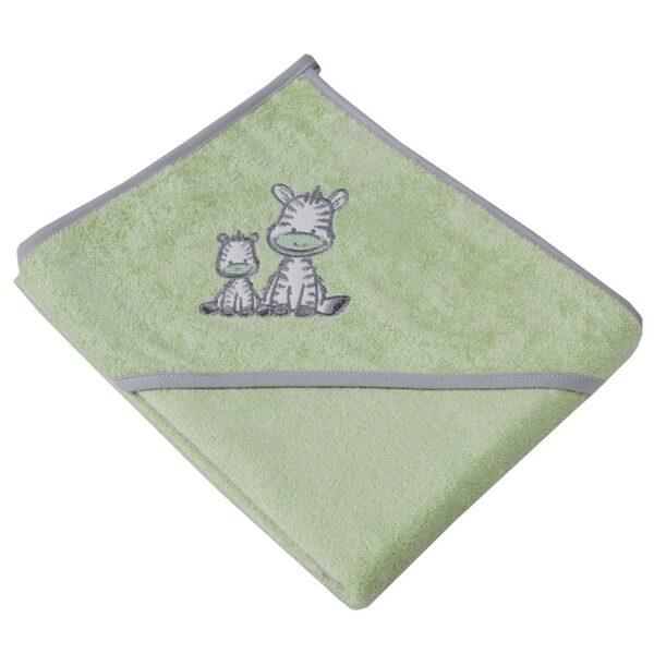 """Zīdaiņu vannošanās dvielītis """"Zebriņa"""", OK06, zaļš, Ekokids"""